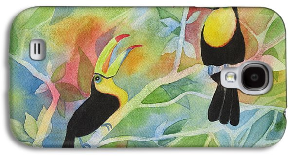 Yellow Beak Paintings Galaxy S4 Cases - Toucan Play at This Game Galaxy S4 Case by Deborah Ronglien
