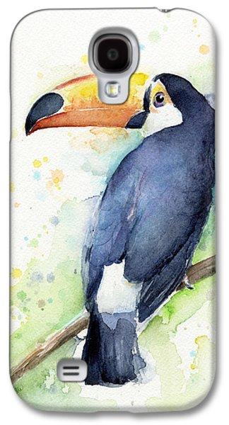 Toucan Watercolor Galaxy S4 Case by Olga Shvartsur