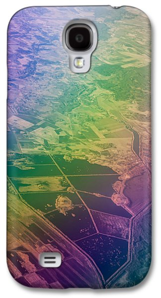 Unique View Galaxy S4 Cases - Touch of Rainbow. Rainbow Earth Galaxy S4 Case by Jenny Rainbow