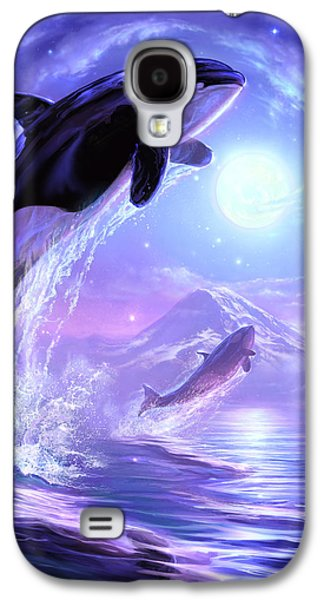 Whale Digital Art Galaxy S4 Cases - Touch the Sky Galaxy S4 Case by Jeff Haynie