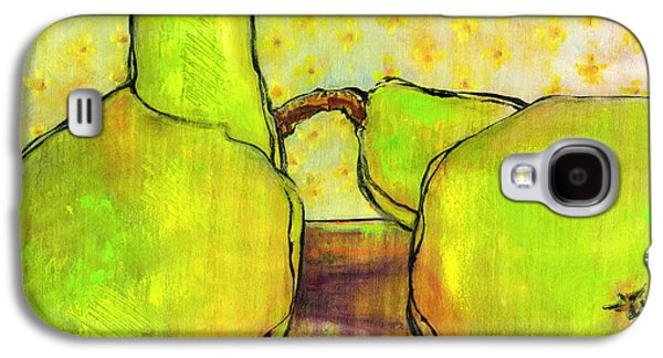 Pear Art Galaxy S4 Cases - Touching Green Pears Art Galaxy S4 Case by Blenda Studio