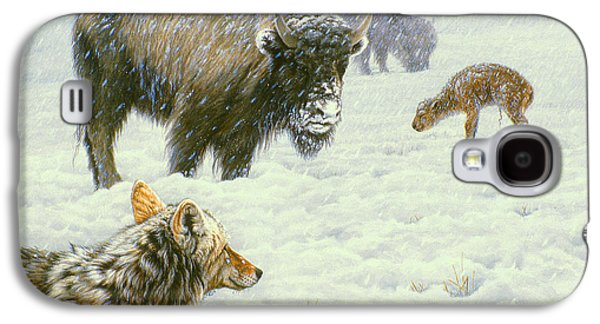 Bison Paintings Galaxy S4 Cases - Tough Day in May Galaxy S4 Case by Paul Krapf