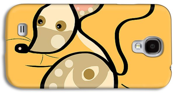Mouse Digital Art Galaxy S4 Cases - Thoughts and colors series mouse Galaxy S4 Case by Veronica Minozzi