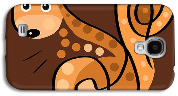 Squirrel Digital Art Galaxy S4 Cases - Thoughts and colors series squirrel Galaxy S4 Case by Veronica Minozzi