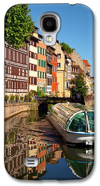 Tour Boat And Buildings Reflected Galaxy S4 Case by Brian Jannsen