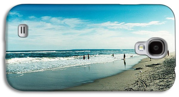 Beach Landscape Galaxy S4 Cases - Tourists On The Beach, Fort Tilden Galaxy S4 Case by Panoramic Images