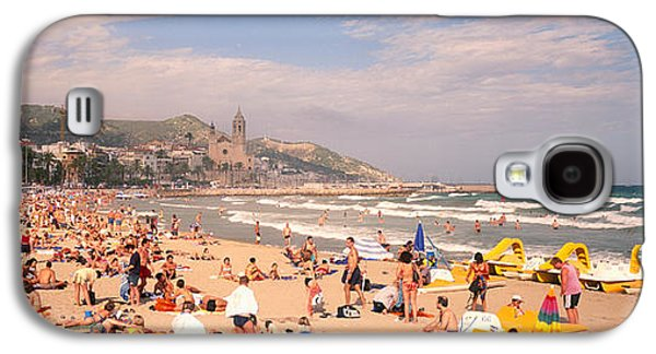 Tourists On The Beach, Sitges, Spain Galaxy S4 Case by Panoramic Images