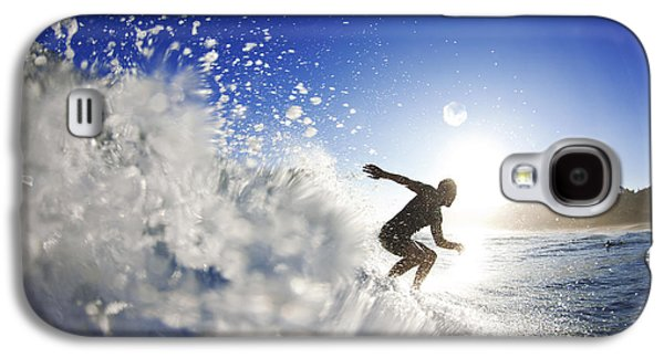 Surf Silhouette Galaxy S4 Cases - Towards the light Galaxy S4 Case by Sean Davey