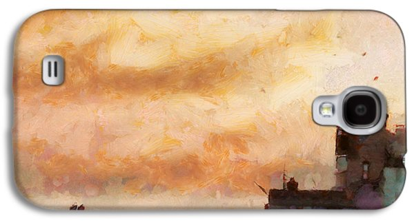 Storm Digital Art Galaxy S4 Cases - Towards the shore Galaxy S4 Case by Pixel Chimp