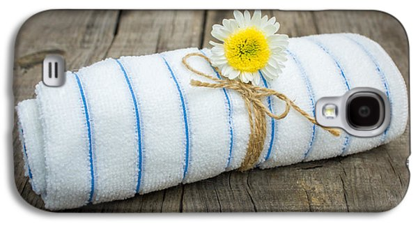 Enjoying Galaxy S4 Cases - Towel With a Flower Galaxy S4 Case by Aged Pixel