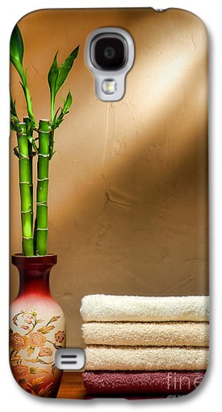 Brown Tones Galaxy S4 Cases - Towels and Bamboo Galaxy S4 Case by Olivier Le Queinec