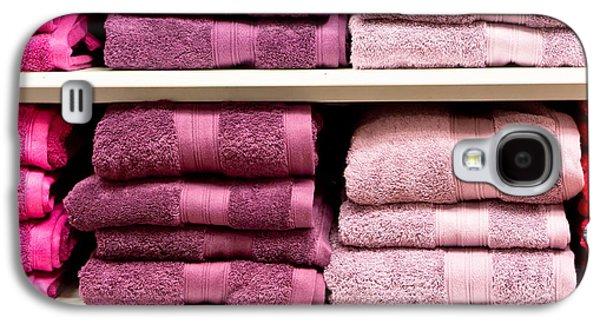 Purple Robe Galaxy S4 Cases - Towels Galaxy S4 Case by Tom Gowanlock