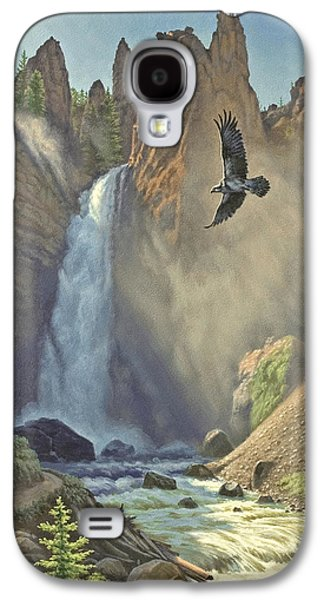 Waterfalls Paintings Galaxy S4 Cases - Tower Falls  Galaxy S4 Case by Paul Krapf