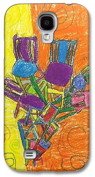 Chair Pastels Galaxy S4 Cases - Tower of chairs Galaxy S4 Case by Ieva Banks