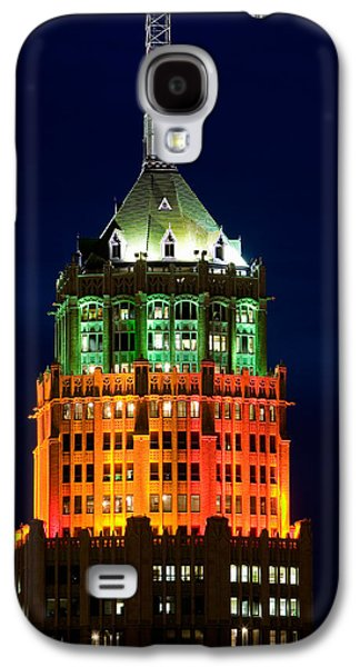 The Americas Photographs Galaxy S4 Cases - Tower Lit Up At Night, Tower Of The Galaxy S4 Case by Panoramic Images