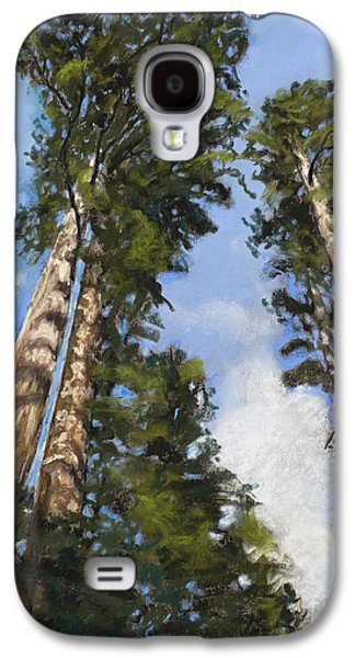 Ancient Pastels Galaxy S4 Cases - Towering Sequoias Galaxy S4 Case by Mary Benke