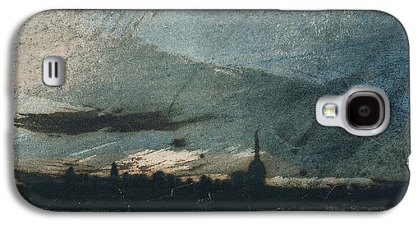 Pen And Ink Drawing Drawings Galaxy S4 Cases - Town at Dusk Galaxy S4 Case by Victor Hugo
