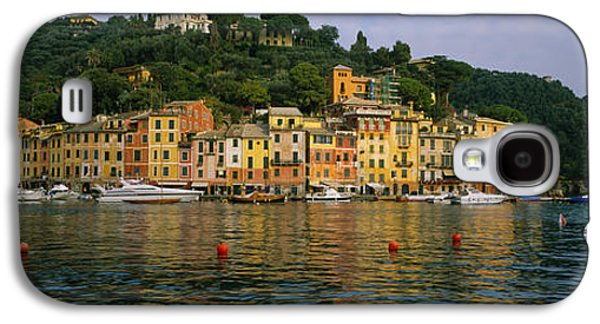 Reflections Of Sky In Water Galaxy S4 Cases - Town At The Waterfront, Portofino, Italy Galaxy S4 Case by Panoramic Images