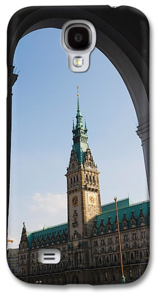 Hamburg Galaxy S4 Cases - Town Hall Viewed Through An Arch Galaxy S4 Case by Panoramic Images