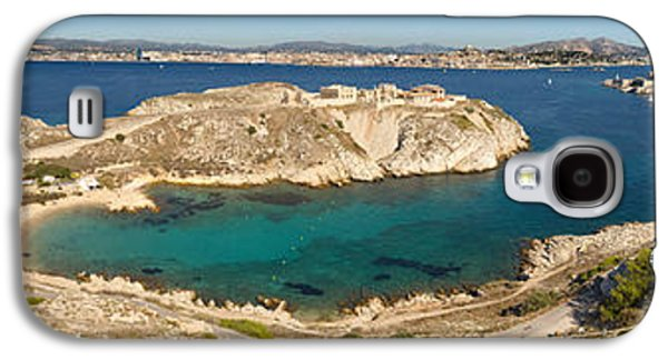Mountain Road Galaxy S4 Cases - Town Of Marseille In The Background Galaxy S4 Case by Panoramic Images