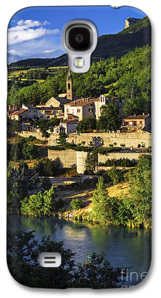 Setting Sun Galaxy S4 Cases - Town of Sisteron in Provence Galaxy S4 Case by Elena Elisseeva