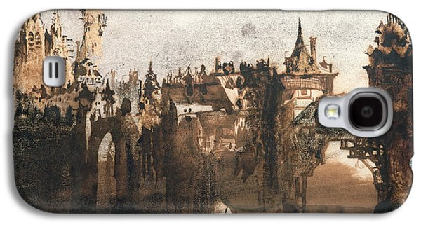 Misty Prints Galaxy S4 Cases - Town with a Broken Bridge Galaxy S4 Case by Victor Hugo