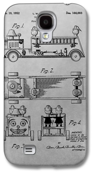 Toy Store Galaxy S4 Cases - Toy Fire Engine Patent Drawing Galaxy S4 Case by Dan Sproul