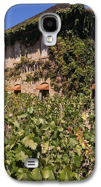 Napa Valley And Vineyards Galaxy S4 Cases - Tra Vigne Restaurant in St Helena Napa California DSC1685 vertical Galaxy S4 Case by Wingsdomain Art and Photography
