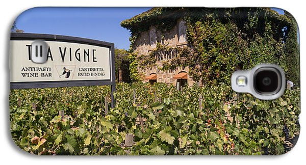 Napa Valley And Vineyards Galaxy S4 Cases - Tra Vigne Restaurant in St Helena Napa California DSC1685 Galaxy S4 Case by Wingsdomain Art and Photography