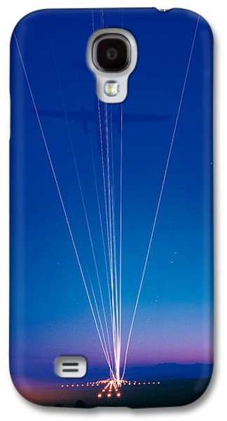 Jet Photographs Galaxy S4 Cases - Track Lights Zurich Airport Switzerland Galaxy S4 Case by Panoramic Images