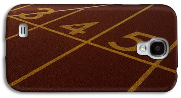 Sports Photographs Galaxy S4 Cases - Track, Starting Line Galaxy S4 Case by Panoramic Images