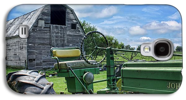 Machinery Galaxy S4 Cases - Tractor Barn Galaxy S4 Case by Nikolyn McDonald