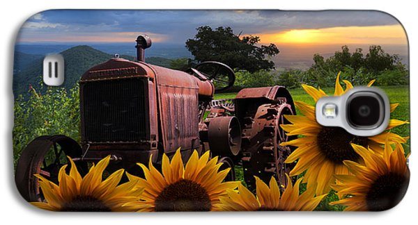 Pasture Scenes Galaxy S4 Cases - Tractor Heaven Galaxy S4 Case by Debra and Dave Vanderlaan
