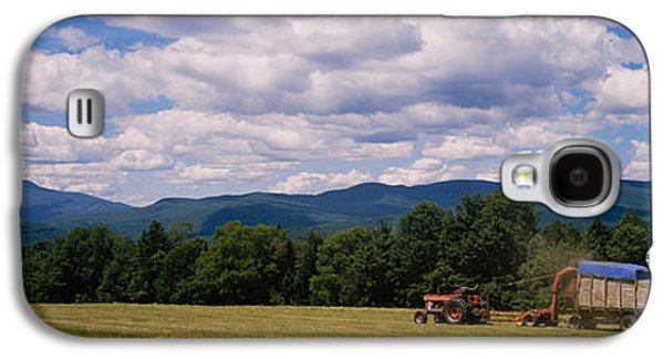 Machinery Galaxy S4 Cases - Tractor On A Field, Waterbury, Vermont Galaxy S4 Case by Panoramic Images