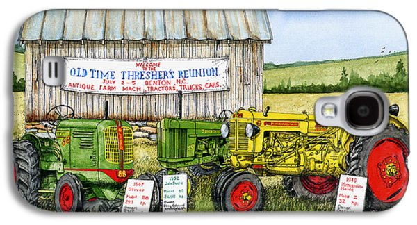 Tractor Prints Galaxy S4 Cases - Tractor Show-Old Time Threshers Reunion Galaxy S4 Case by Larry Johnson