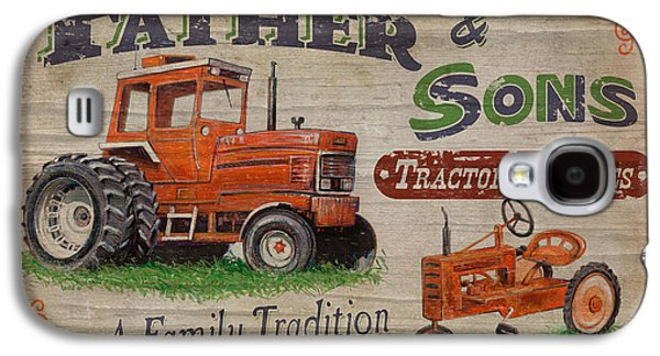 Hay Paintings Galaxy S4 Cases - Tractor Supplies Galaxy S4 Case by JQ Licensing