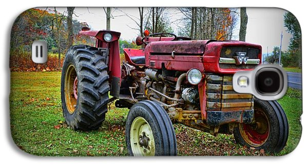 Harvest Time Galaxy S4 Cases - Tractor - The Farmers Car Galaxy S4 Case by Paul Ward