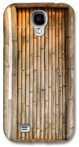 Bamboo House Galaxy S4 Cases - Traditional Chinese House with Bamboo Door Galaxy S4 Case by Yali Shi