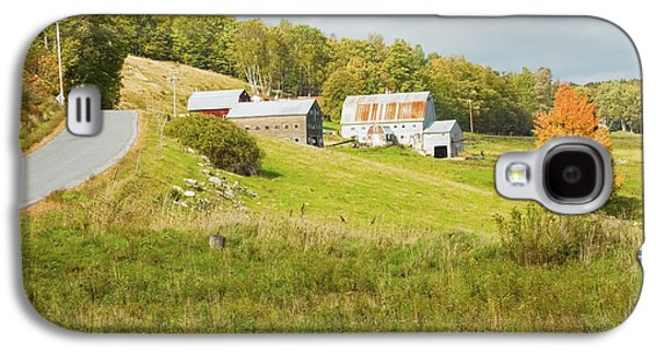 Maine Roads Galaxy S4 Cases - Traditional Maine Farm On Side Of Hill Canvas Poster Prints Galaxy S4 Case by Keith Webber Jr