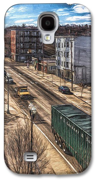 Working Mixed Media Galaxy S4 Cases - Traffic on Lincoln Street Galaxy S4 Case by Bob Orsillo