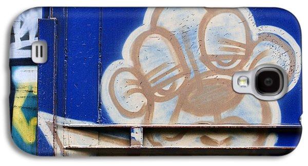 Urban Art Photographs Galaxy S4 Cases - Train Art Cartoon Dog Galaxy S4 Case by Carol Leigh