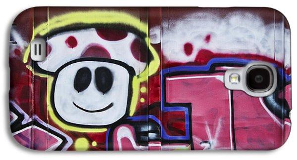 Urban Art Photographs Galaxy S4 Cases - Train Art Cartoon Face Galaxy S4 Case by Carol Leigh