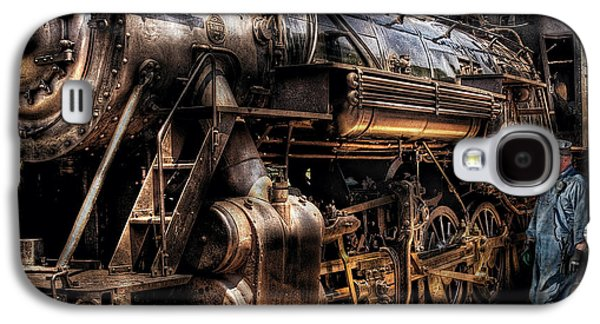 Metal Photographs Galaxy S4 Cases - Train - Engine -  Now boarding Galaxy S4 Case by Mike Savad