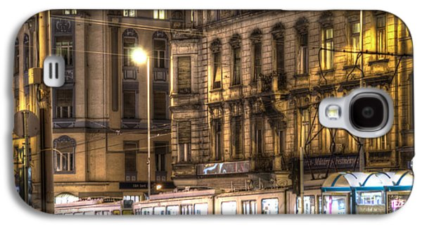 Long Street Digital Art Galaxy S4 Cases - Tram night Galaxy S4 Case by Nathan Wright