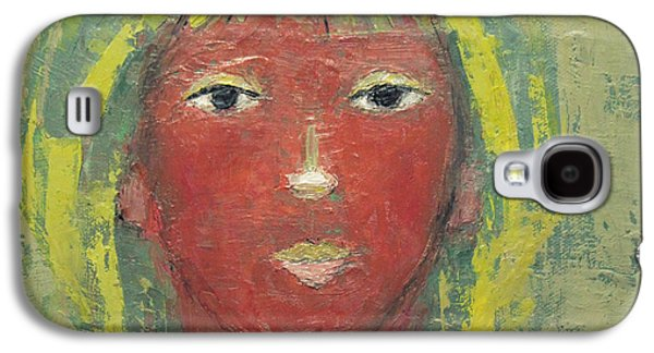Becky Kim Paintings Galaxy S4 Cases - Tranquil Gaze Galaxy S4 Case by Becky Kim