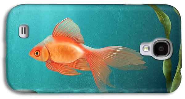 Fish Pond Galaxy S4 Cases - Tranquility Galaxy S4 Case by April Moen