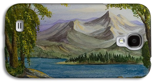 Animation Paintings Galaxy S4 Cases - Tranquility Galaxy S4 Case by Brenda Salamone