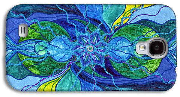 Geometry Paintings Galaxy S4 Cases - Tranquility Galaxy S4 Case by Teal Eye  Print Store