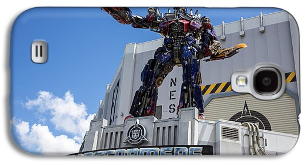 Studio Photographs Galaxy S4 Cases - Transformers The Ride 3D Universal Studios Galaxy S4 Case by Edward Fielding
