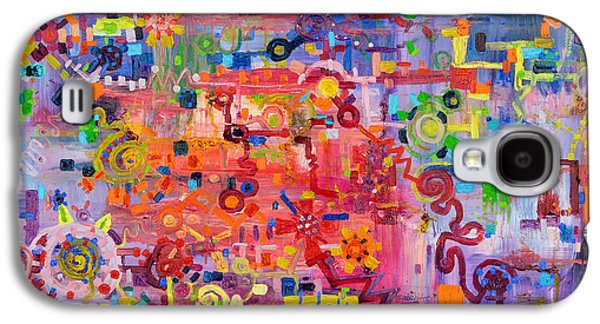 Disorder Paintings Galaxy S4 Cases - Transition to Chaos Galaxy S4 Case by Regina Valluzzi